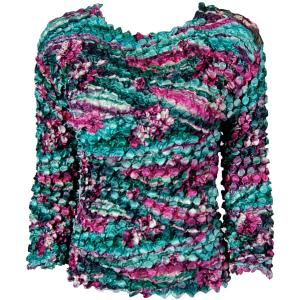 wholesale Coin Prints - Long Sleeve Magenta-Green Floral - One Size (S-XL)