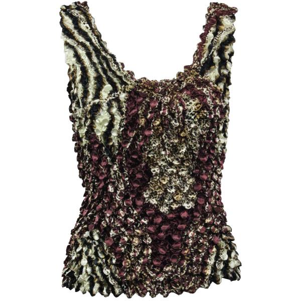 wholesale Coin Prints - Tank Top Zebra Wine-Brown - One Size (S-XL)