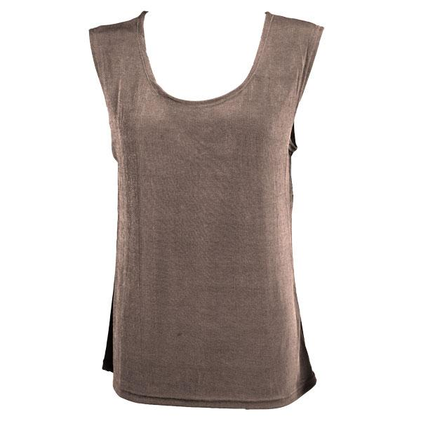 wholesale Slinky Travel Tops - Sleeveless* Taupe - One Size Fits (S-L)