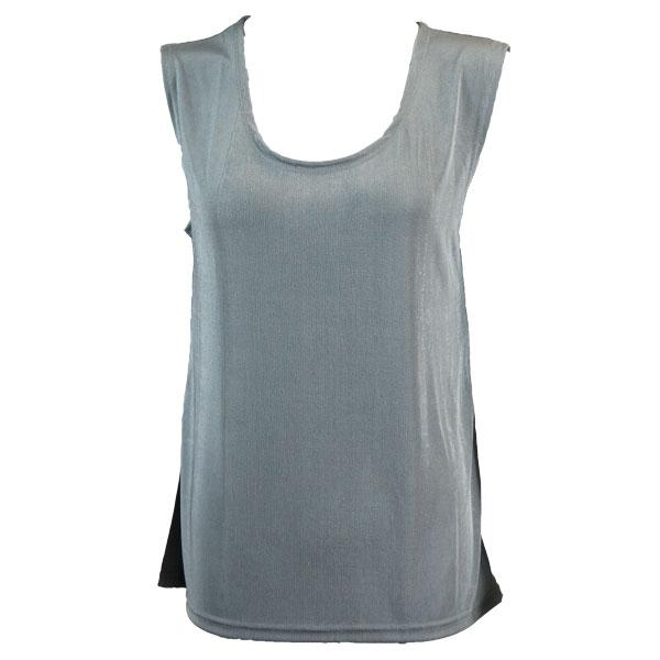 wholesale Slinky Travel Tops - Sleeveless* Silver - One Size Fits (S-L)
