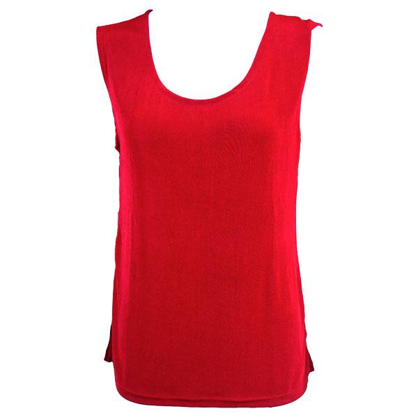 wholesale Slinky Travel Tops - Sleeveless* Red - Plus Size Fits (XL-2X)