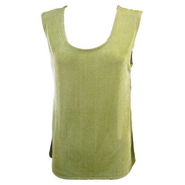 wholesale Slinky Travel Tops - Sleeveless* Leaf Green - Plus Size Fits (XL-2X)