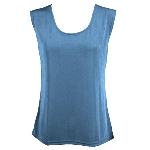 wholesale Slinky Travel Tops - Sleeveless* Light Blue - Plus Size Fits (XL-2X)
