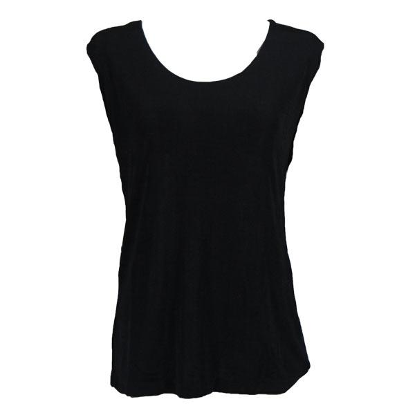 wholesale Slinky Travel Tops - Sleeveless* Black - Plus Size Fits (XL-2X)