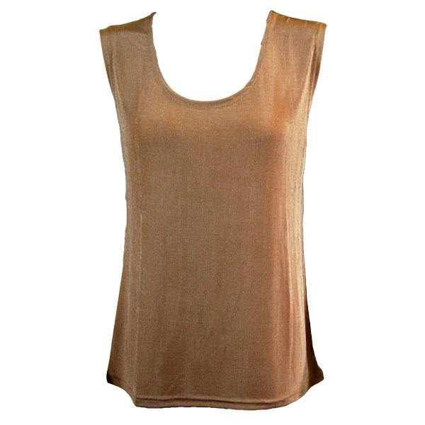 wholesale Slinky Travel Tops - Sleeveless* Champagne - Plus Size Fits (XL-2X)