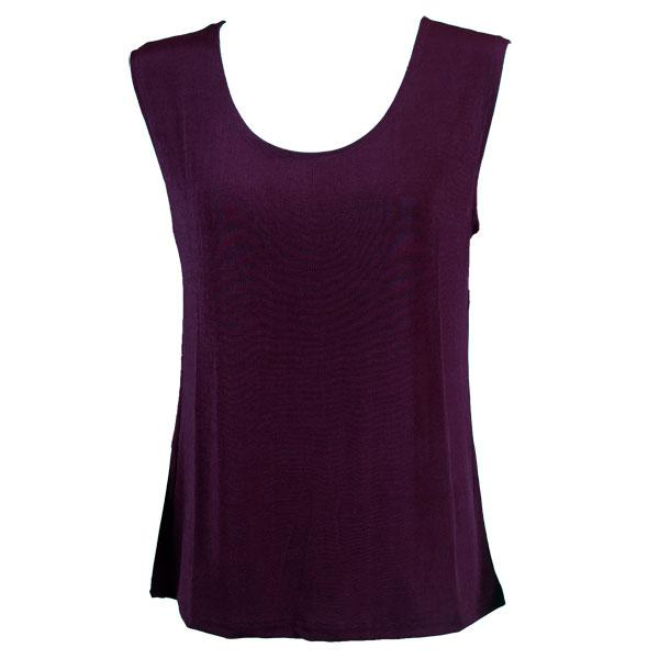 wholesale Slinky Travel Tops - Sleeveless* Purple - Plus Size Fits (XL-2X)
