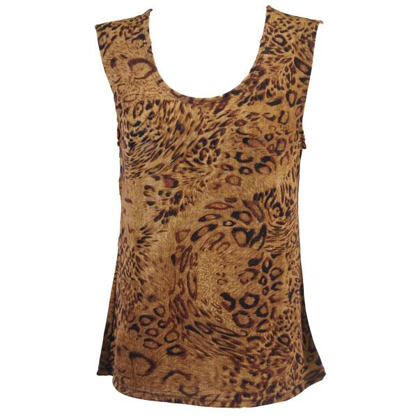 wholesale Slinky Travel Tops - Sleeveless* Leopard Print - Plus Size Fits (XL-2X)