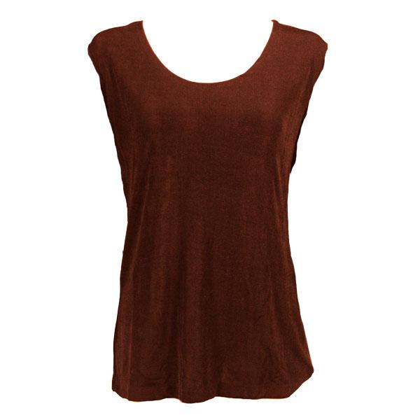 wholesale Slinky Travel Tops - Sleeveless* Brown - Plus Size Fits (XL-2X)