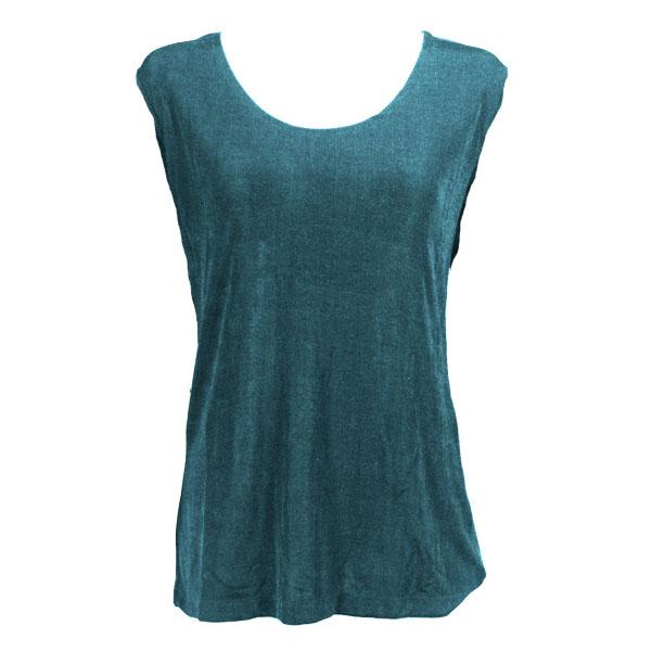wholesale Slinky Travel Tops - Sleeveless* Teal - Plus Size Fits (XL-2X)