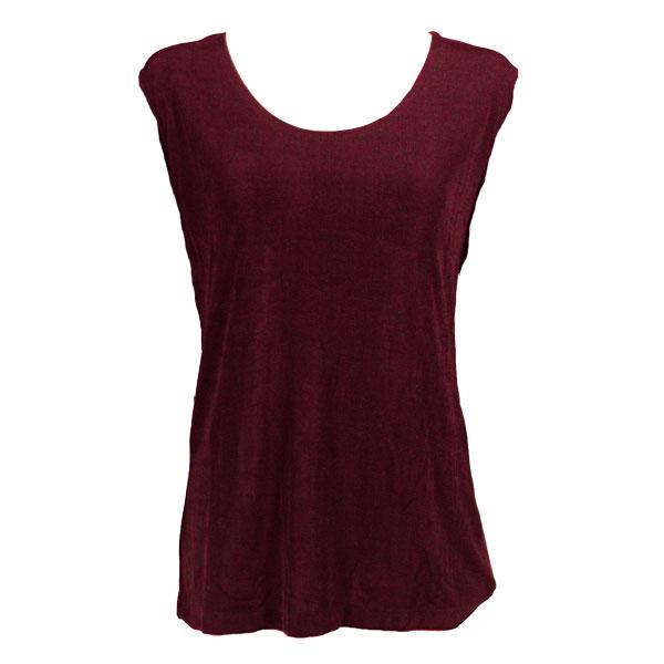 wholesale Slinky Travel Tops - Sleeveless* Wine - Plus Size Fits (XL-2X)