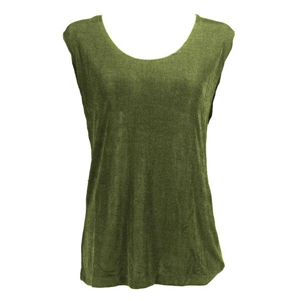 wholesale Slinky Travel Tops - Sleeveless* Olive - Plus Size Fits (XL-2X)