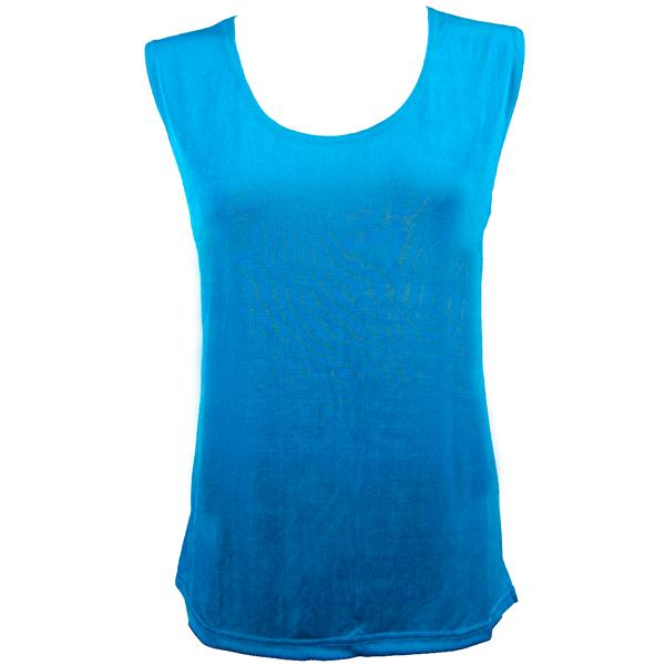 wholesale Slinky Travel Tops - Sleeveless* Turquoise - One Size Fits (S-L)