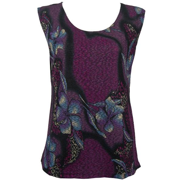 wholesale Slinky Travel Tops - Sleeveless* Hibiscus Purple - One Size Fits (S-L)