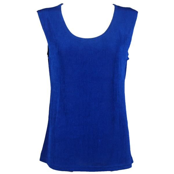 wholesale Slinky Travel Tops - Sleeveless* Blueberry - One Size Fits  (S-L)
