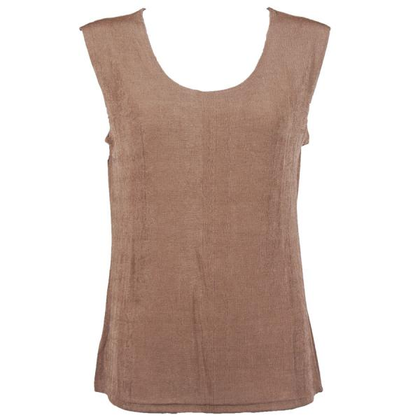 wholesale Slinky Travel Tops - Sleeveless* Nutmeg - One Size Fits  (S-L)