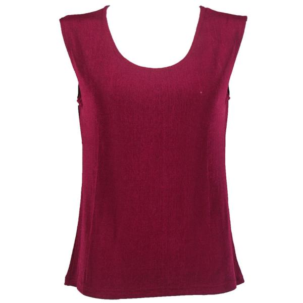 wholesale Slinky Travel Tops - Sleeveless* Cabernet - One Size Fits  (S-L)