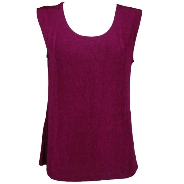 wholesale Slinky Travel Tops - Sleeveless* Plum - Plus Size Fits (XL-2X)