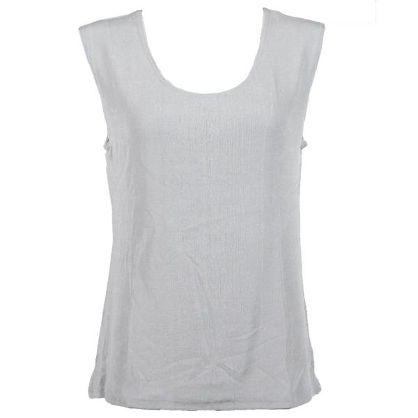 wholesale Slinky Travel Tops - Sleeveless* Platinum - Plus Size Fits (XL-2X)