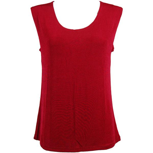 wholesale Slinky Travel Tops - Sleeveless* Cranberry - Plus Size Fits (XL-2X)