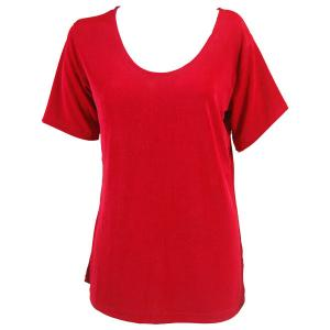 wholesale Slinky Travel Tops - Short Sleeve* Red - One Size (S-L)