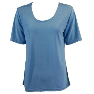 wholesale Slinky Travel Tops - Short Sleeve* Light Blue - One Size (S-L)