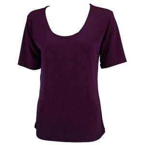 wholesale Slinky Travel Tops - Short Sleeve* Purple - One Size (S-L)