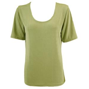 wholesale Slinky Travel Tops - Short Sleeve* Leaf Green - Plus Size Fits (XL-2X)