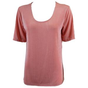 wholesale Slinky Travel Tops - Short Sleeve* Light Pink - Plus Size Fits (XL-2X)