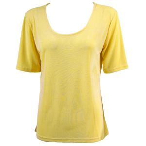 wholesale Slinky Travel Tops - Short Sleeve* Yellow - Plus Size Fits (XL-2X)