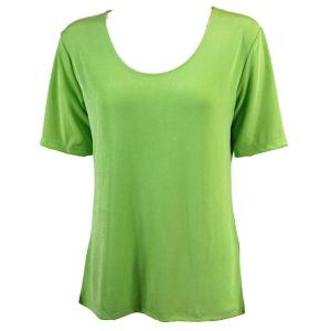 wholesale Slinky Travel Tops - Short Sleeve* Lime - Plus Size Fits (XL-2X)