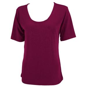 wholesale Slinky Travel Tops - Short Sleeve* Plum - One Size (S-L)