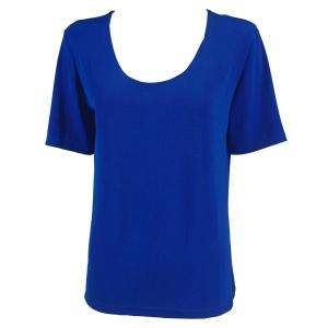 wholesale Slinky Travel Tops - Short Sleeve* Blueberry - One Size (S-L)