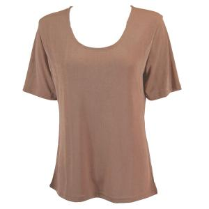 wholesale Slinky Travel Tops - Short Sleeve* Nutmeg - One Size (S-L)
