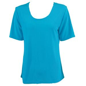 wholesale Slinky Travel Tops - Short Sleeve* Caribbean Teal - One Size (S-L)