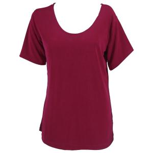 wholesale Slinky Travel Tops - Short Sleeve* Cabernet - One Size (S-L)
