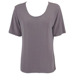wholesale Slinky Travel Tops - Short Sleeve* Lavender - Plus Size Fits (XL-2X)