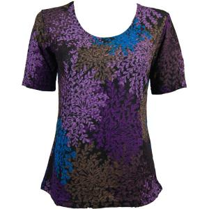 wholesale Slinky Travel Tops - Short Sleeve* Multi Floral - One Size (S-L)