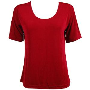 wholesale Slinky Travel Tops - Short Sleeve* Cranberry - Plus Size Fits (XL-2X)
