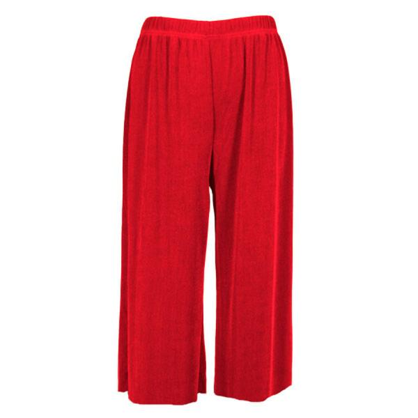 Wholesale Slinky TravelWear Capris* Red - One Size (S-L)