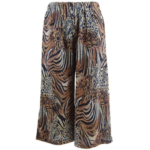 Wholesale Slinky TravelWear Capris* Animal w/Brown Gold Accent - Plus Size Fits (XL-2X)