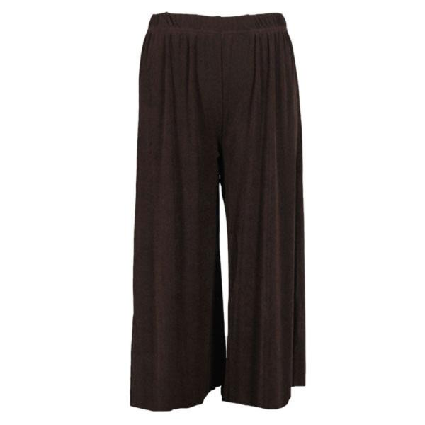 Wholesale Slinky TravelWear Capris* Dark Brown - Plus Size Fits (XL-2X)