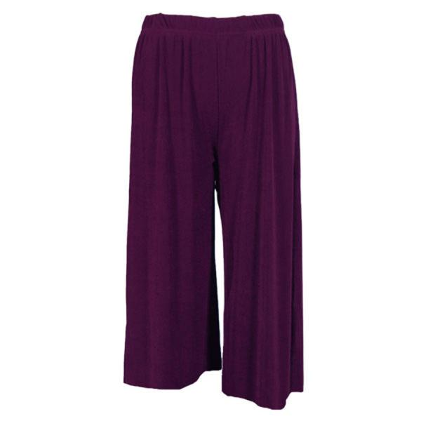 Wholesale Slinky TravelWear Capris* Purple - Plus Size Fits (XL-2X)