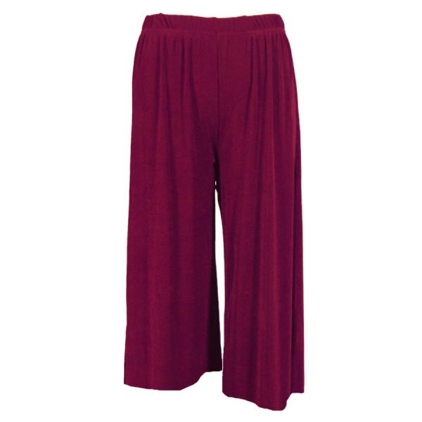 Wholesale Slinky TravelWear Capris* Plum - Plus Size Fits (XL-2X)