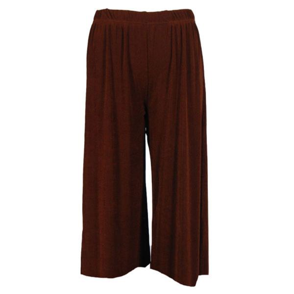 Wholesale Slinky TravelWear Capris* Brown - One Size (S-L)