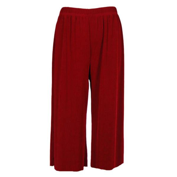 Wholesale Slinky TravelWear Capris* Cranberry - Plus Size Fits (XL-2X)
