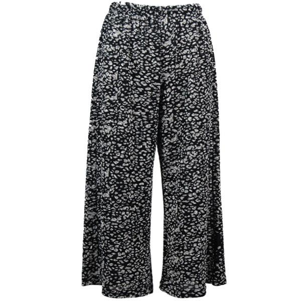 Wholesale Slinky TravelWear Capris* Leopard Black-White - Plus Size Fits (XL-2X)