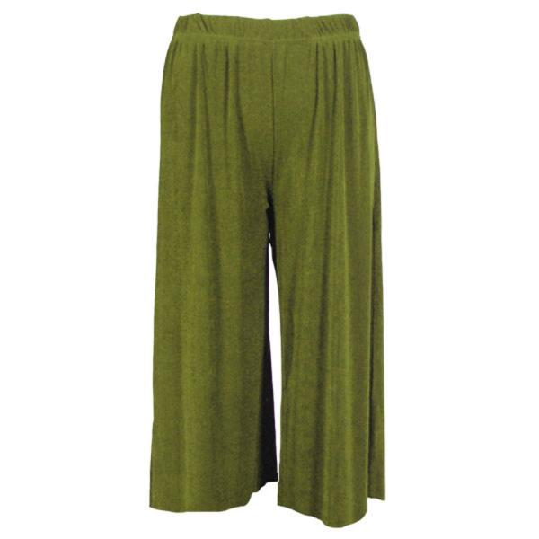 Wholesale Slinky TravelWear Capris* Olive - Plus Size Fits (XL-2X)