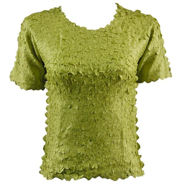 wholesale Petal Shirts - Short Sleeve  Solid Leaf Green - One Size (S-XL)