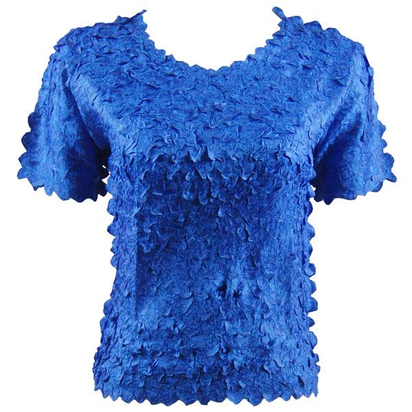 wholesale Petal Shirts - Short Sleeve  Solid Royal - One Size (S-XL)