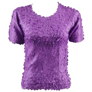 wholesale Petal Shirts - Short Sleeve  Solid Purple - One Size (S-XL)